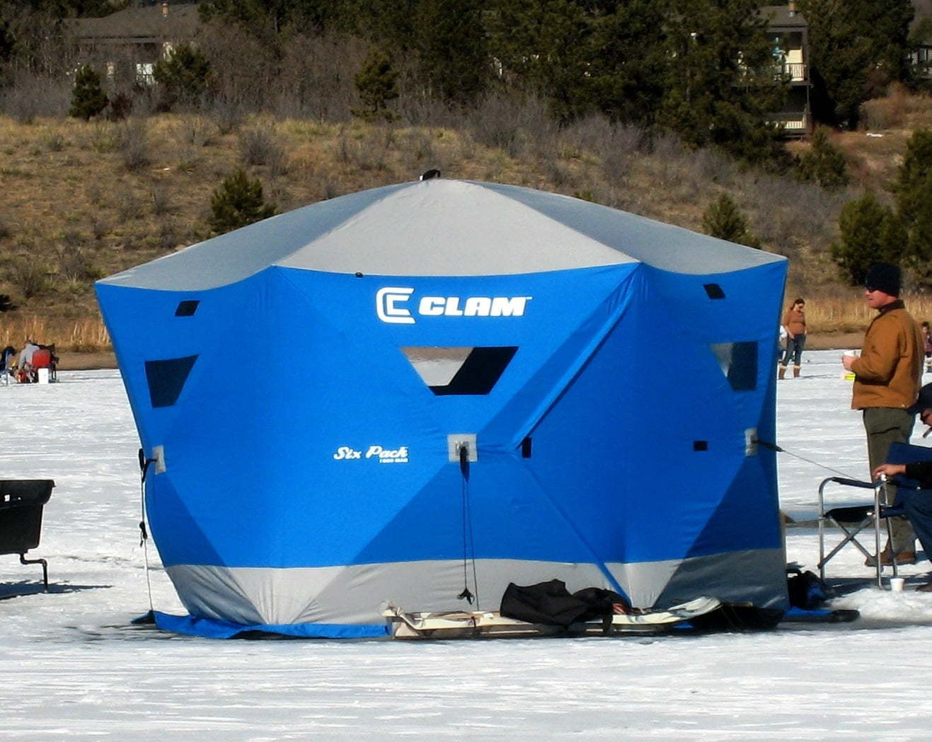 Best ice shanty for sale online for Ice fishing shelters for sale